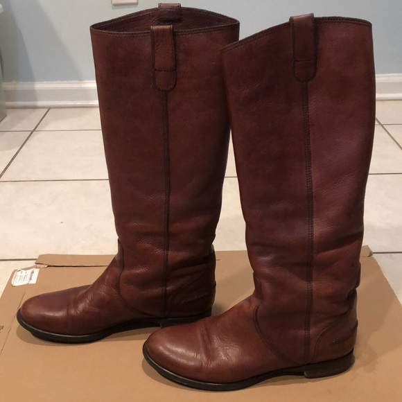 de63a197037d Madewell Shoes - Madewell Archive Chestnut Brown Tall Flat Boot 7.5
